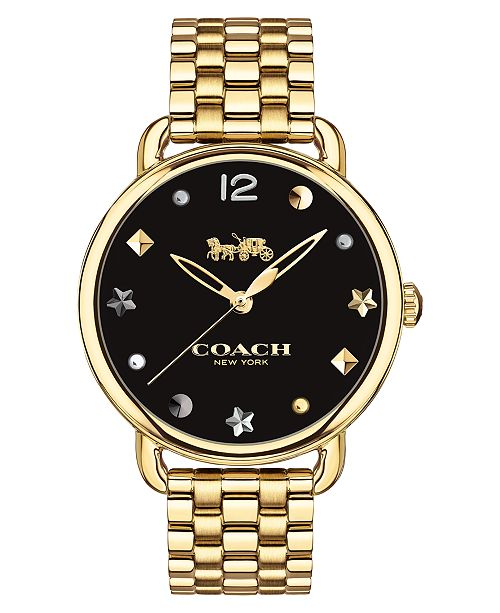 COACH Women's Delancey Gold-Tone Bracelet Watch 36mm
