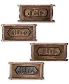 INK+IVY Woodson Antique Brick Molds, Set of 4