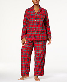 matching family pajamas plus size womens brinkley plaid pajama set created for macys