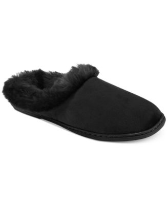 Image of Charter Club Microvelour Clog Memory Foam Slippers, Created for Macy's