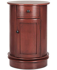 Tabitha Swivel Accent Table, Quick Ship
