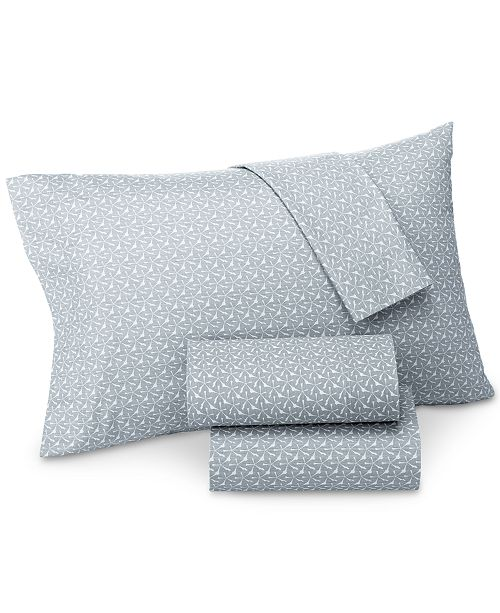 Lucky Brand CLOSEOUT! Santa Fe Cotton Sateen 230 Thread Count King Pillowcase Pair, Created for Macy's