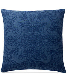 Lucky Brand Brooke Navy European Sham, Created for Macy's