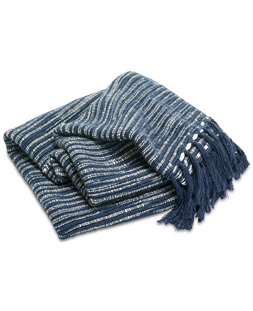 Lucky Brand CLOSEOUT! Heather Stripe Throw, Created for Macy's