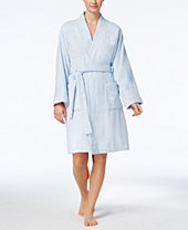 Tommy Hilfiger Womens Robe Belted Plush Super Soft Short