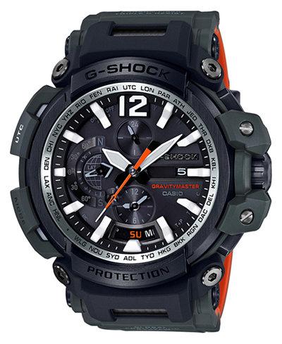 G-Shock Men's Solar Master of G Green Resin Strap Watch 57mm