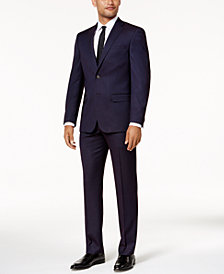 Sean John Men's Slim-Fit Purple Birdseye Suit Separates