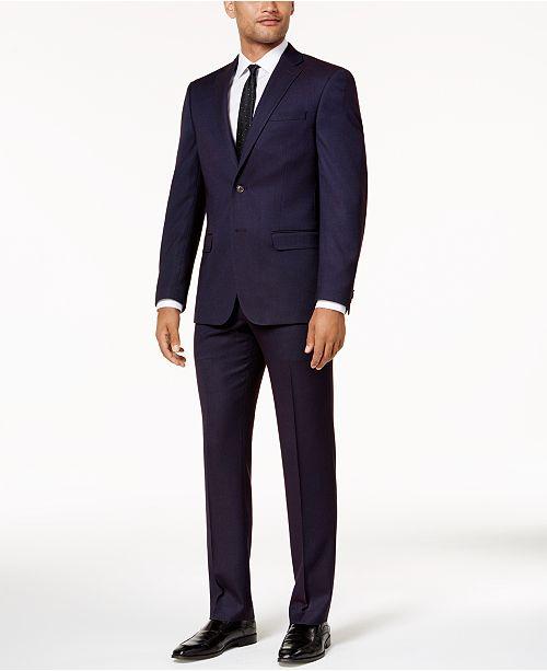 Sean John Men's Slim-Fit Purple Birdseye Suit Separates