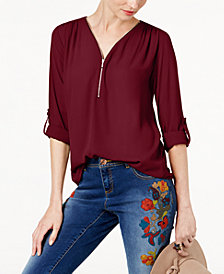 I.N.C. Mixed-Media Utility Top, Created for Macy's
