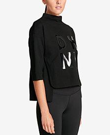 DKNY Sport Mock-Neck Logo Sweatshirt