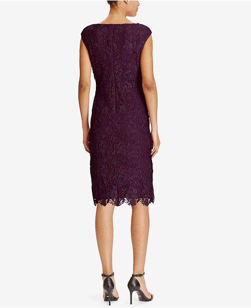 61e00821 Lauren Ralph Lauren Lace Sheath Dress & Reviews - Dresses - Women ...
