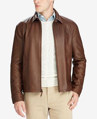 Polo Ralph Lauren Men's Leather Jacket - Coats & Jackets - Men ...