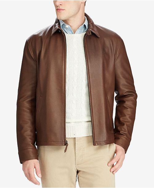 Polo Ralph Lauren Men s Leather Jacket   Reviews - Coats   Jackets ... ddfe0b3a60dd7