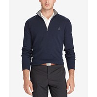 Deals on Polo Ralph Lauren Men's Jersey Quarter-Zip Pullover