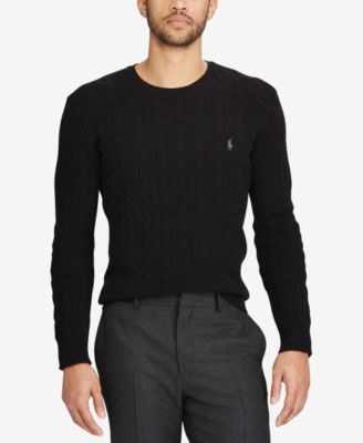 polo cable knit sweater ralph lauren side bag