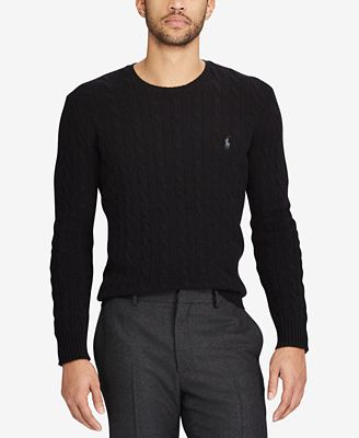 Polo Ralph Lauren Mens Cable Knit Wool And Cashmere Blend Sweater