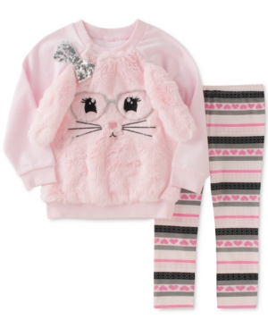 Kids Headquarters 2Pc FauxFur Sweatshirt  Leggings Set Baby Girls (024 months)