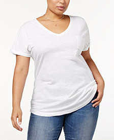 Style & Co Plus Size V-Neck T-Shirt, Created for Macy's