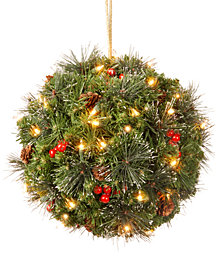 """National Tree Company 16"""" Crestwood Spruce Kissing Ball with LED Lights"""