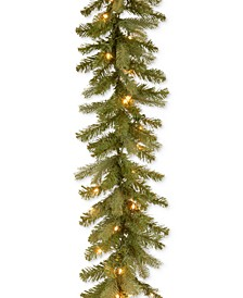 9' Feel Real® Downswept Douglas Fir Garland With 70 Clear Lights