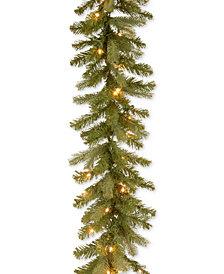 National Tree Company 9' Feel Real® Downswept Douglas Fir Garland With 70 Clear Lights