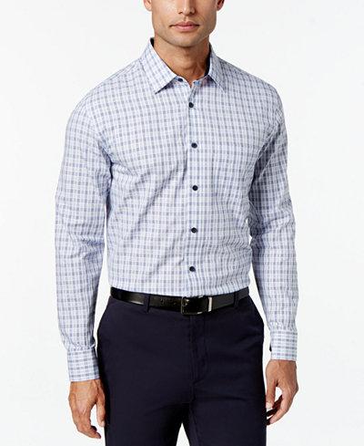 Tasso Elba Men's Long-Sleeve Plaid Shirt, Created for Macy's