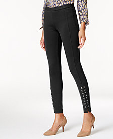 MICHAEL Michael Kors Lace-Up Skinny Pants in Regular & Petite Sizes