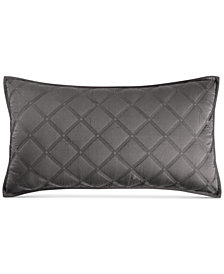 "CLOSEOUT! Hotel Collection  Fretwork Quilted 14"" x 24"" Decorative Pillow, Created for Macy's"