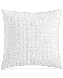 "CLOSEOUT! Hotel Collection Inlay Cotton 18"" Square Decorative Pillow, Created for Macy's"