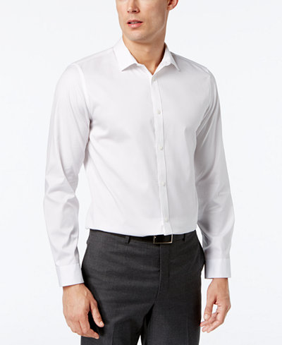 Calvin Klein Men's Infinite Cool Classic-Fit Shirt - Casual Button ...