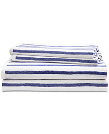 Lauren Ralph Lauren Jensen Cotton Percale 200-Thread Count 4-Pc. Stripe California King Sheet Set