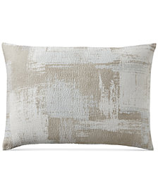 Hotel Collection Cotton Textured Brushstroke King Sham, Created for Macy's