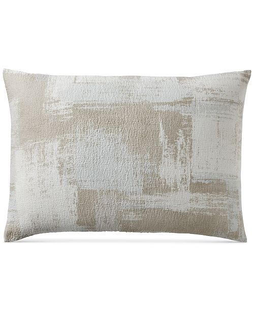 Hotel Collection CLOSEOUT! Cotton Textured Brushstroke Standard Sham, Created for Macy's