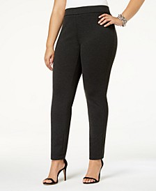 INC Plus Size Skinny Pull-On Ponte Pants, Created for Macy's