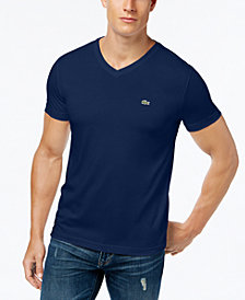 Lacoste Men's V-Neck Pima Cotton T-Shirt