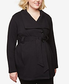 Plus Size Frenchy Terry Belted Coat