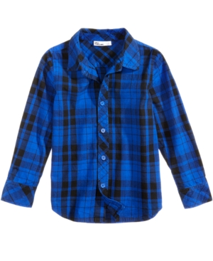 Epic Threads Plaid Cotton Shirt Little Boys (47) Created for Macys
