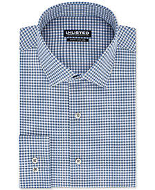 Unlisted Men's Slim-Fit Easy-Care Broadcloth Gingham Dress Shirt