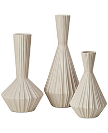 Madison Park Signature Lucia Handmade Stone Vase, Set of 3