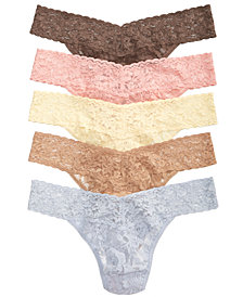 Hanky Panky Signature Lace Original Rise Thong 5-Pack Set 48115VPK