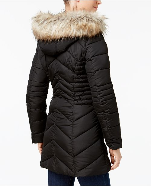 0f70a486ec40 Laundry by Shelli Segal Faux-Fur-Trim Quilted Puffer Coat   Reviews ...
