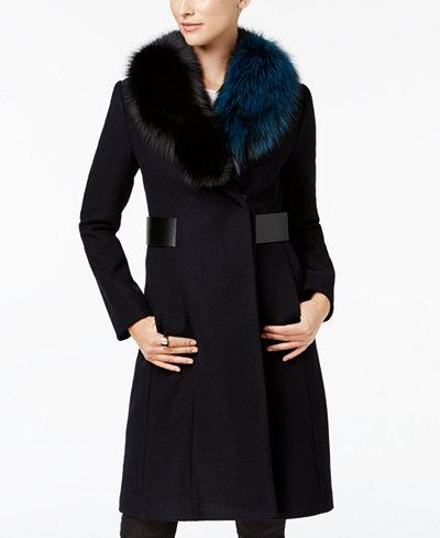 1 Madison Expedition Fox-Fur-Collar Walker Coat