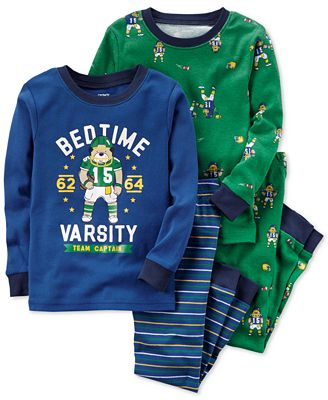Carter's 4-Pc. Bedtime Varsity Cotton Pajama Set, Baby Boys