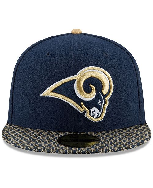 427fb93ed7e ... Fitted Cap  New Era Boys  Los Angeles Rams Sideline 59FIFTY Fitted ...