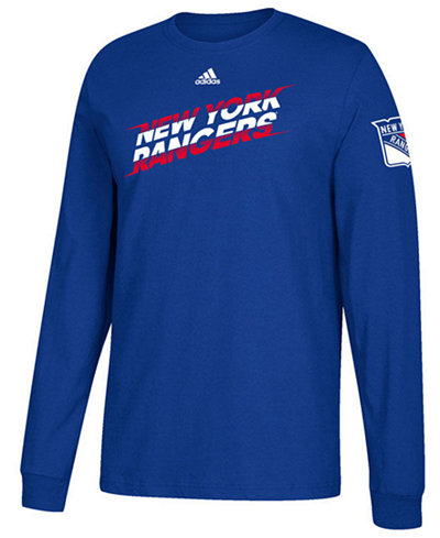 adidas Men's New York Rangers Line Shift Long Sleeve T-Shirt