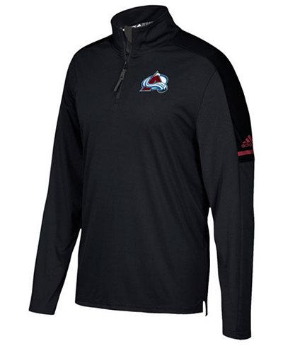 adidas Men's Colorado Avalanche Authentic Pro Quarter-Zip Pullover