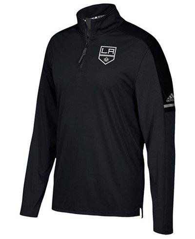 adidas Men's Los Angeles Kings Authentic Pro Quarter-Zip Pullover