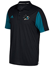 adidas Men's San Jose Sharks Authentic Pro Game Day Polo