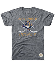 Retro Brand Men's Florida Panthers Sticks Logo Victory T-Shirt