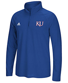 adidas Men's Kansas Jayhawks Ultimate Quarter-Zip Pullover